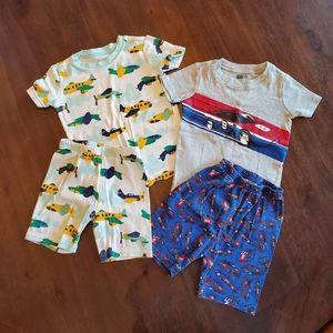 Gymboree/Crazy 8 shorts pajama sets size 4